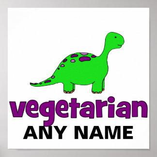 Vegetarian - Dinosaur Design Poster