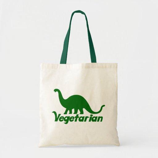 Vegetarian Dinosaur Tote Bags