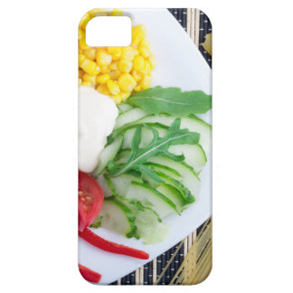 Vegetarian dish of raw vegetables and mozzarella iPhone SE/5/5s case