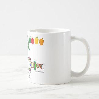 Vegetarian DNA (Vegetarian Attitude Humor) Classic White Coffee Mug