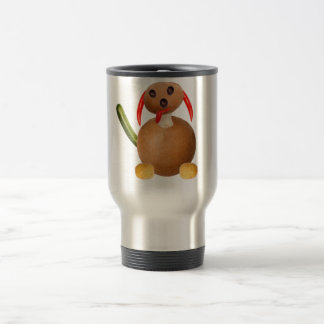 Vegetarian dog, ideally tons of ADDs your own text Travel Mug