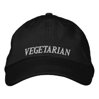 Vegetarian Embrodery Baseball Cap