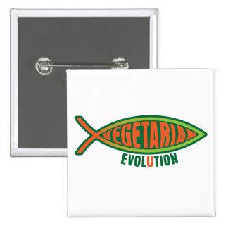 Vegetarian Evolution Pinback Button