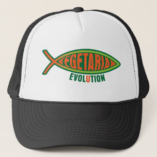 Vegetarian Evolution Trucker Hat