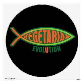 Vegetarian Evolution Wall Sticker