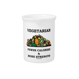 Vegetarian Fewer Calories & More Strength Beverage Pitcher
