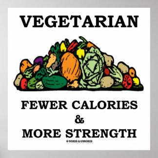 Vegetarian Fewer Calories & More Strength Poster