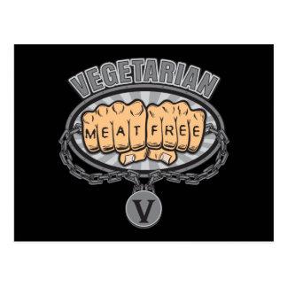 Vegetarian Fists Postcard