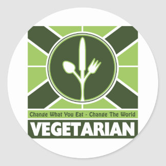 Vegetarian Flag Classic Round Sticker
