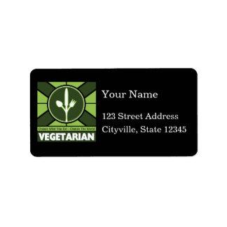 Vegetarian Flag Label