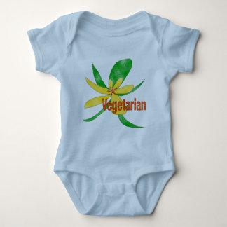 Vegetarian Flower Baby Bodysuit