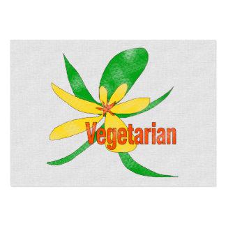 Vegetarian Flower Large Business Cards (Pack Of 100)