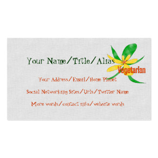 Vegetarian Flower Double-Sided Standard Business Cards (Pack Of 100)