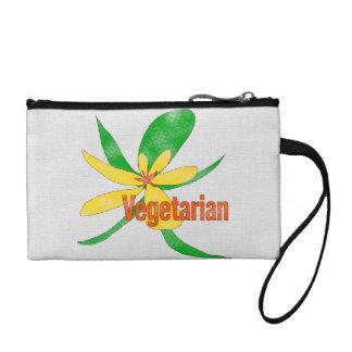 Vegetarian Flower Change Purse