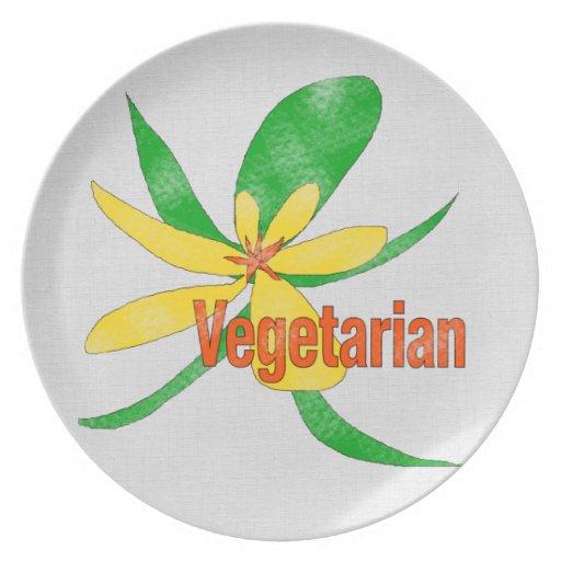 Vegetarian Flower Dinner Plate