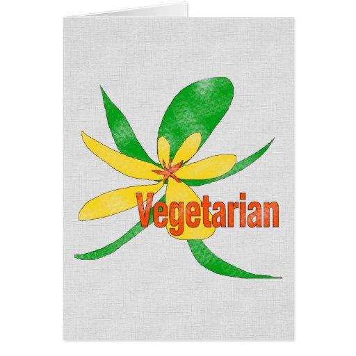 Vegetarian Flower Greeting Card