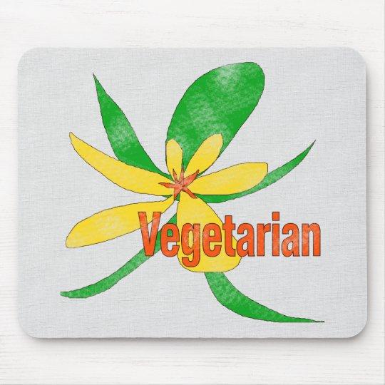Vegetarian Flower Mouse Pad