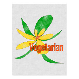 Vegetarian Flower Postcard