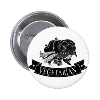Vegetarian food icon pinback buttons