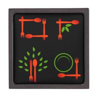 Vegetarian food jewelry box
