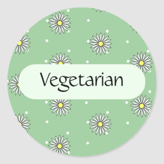 Vegetarian Food Label for Buffets and Picnics Classic Round Sticker