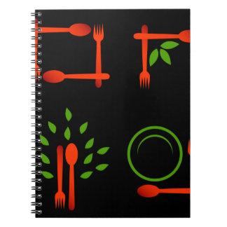 Vegetarian food notebook