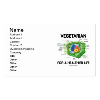 Vegetarian For A Healthier Life (Plant Cell) Business Card Templates