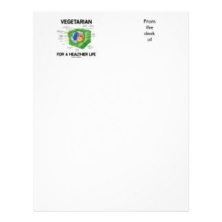 Vegetarian For A Healthier Life (Plant Cell) Customized Letterhead