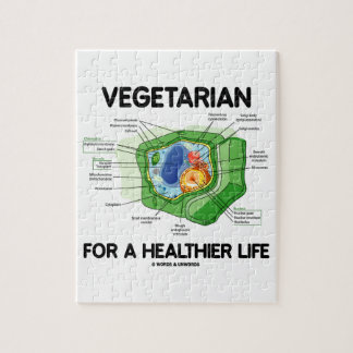Vegetarian For A Healthier Life (Plant Cell) Puzzle