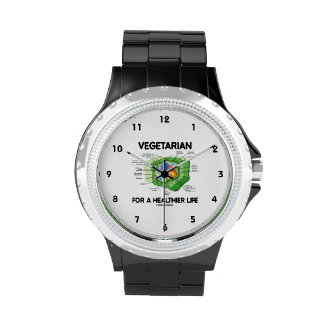 Vegetarian For A Healthier Life (Plant Cell) Wristwatches