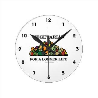 Vegetarian For A Longer Life (Vegetarian Attitude) Clocks