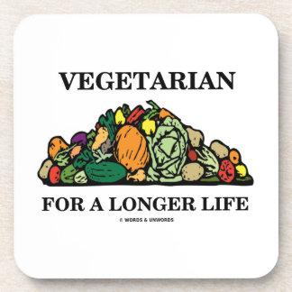 Vegetarian For A Longer Life (Vegetarian Attitude) Coasters