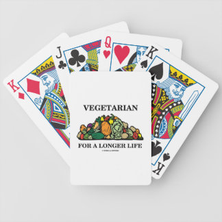Vegetarian For A Longer Life (Vegetarian Attitude) Bicycle Playing Cards