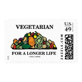 Vegetarian For A Longer Life (Vegetarian Attitude) Stamps