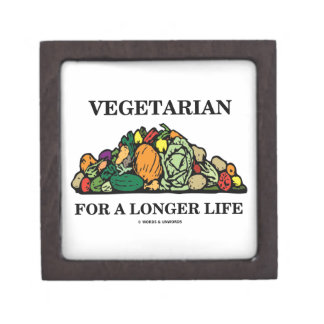 Vegetarian For A Longer Life (Vegetarian Attitude) Premium Keepsake Box
