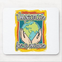 Vegetarian for a Reason Mouse Pad