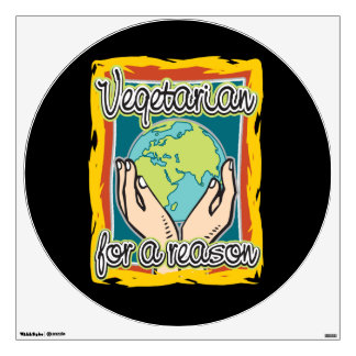 Vegetarian for a Reason Wall Decal