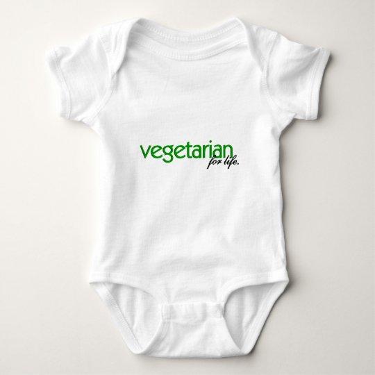 Vegetarian for Life Baby Bodysuit