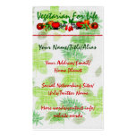 Vegetarian For Life Double-Sided Standard Business Cards (Pack Of 100)