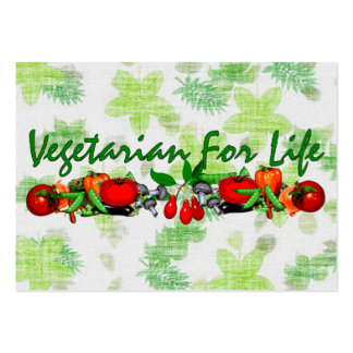 Vegetarian For Life Large Business Cards (Pack Of 100)