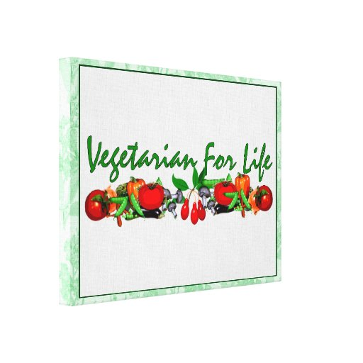 Vegetarian For Life Stretched Canvas Print