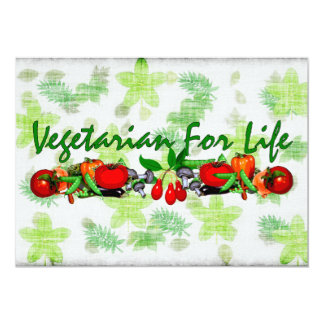 Vegetarian For Life Card
