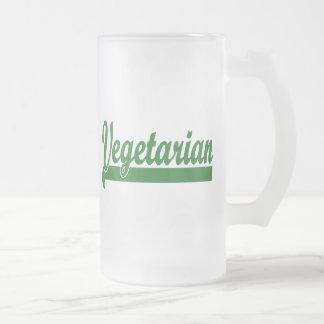 Vegetarian Frosted Glass Beer Mug