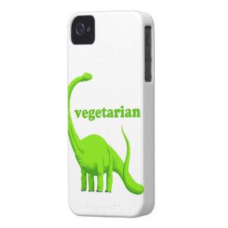 """Vegetarian"" Funny Dinosaur iPhone 4 Case"