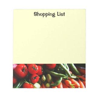Vegetarian Garden Vegetables Picture Notepad
