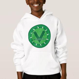 Vegetarian Green Logo Hoodie