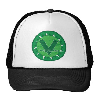 Vegetarian Green Logo Trucker Hats