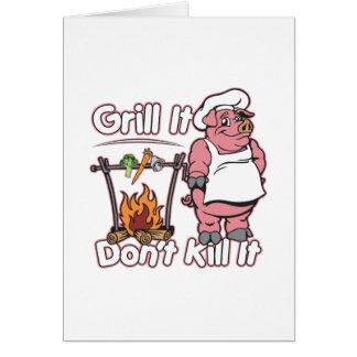 Vegetarian Grill It Don't Kill It Card