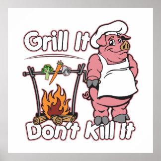Vegetarian Grill It Don't Kill It Poster