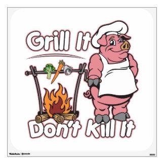 Vegetarian Grill It Don't Kill It Wall Decal